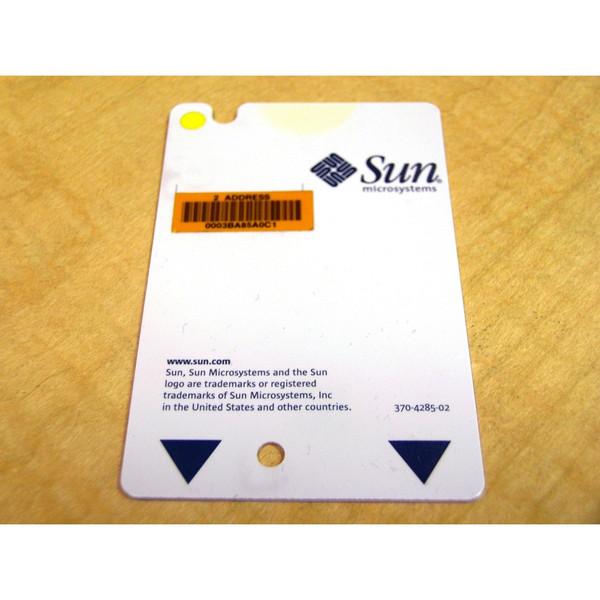 Sun 370-4285 System Config Card for V100 V120 Netra T1 AC200 DC200 via Flagship Tech