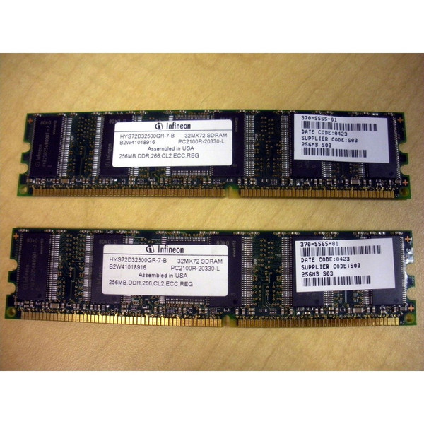 Sun X7402A 512MB (2x 256MB) Memory Kit 370-5565 via Flagship Tech