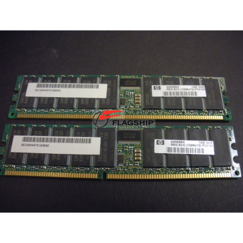 HP A8088B 2GB PC2100 DDR SDRAM (2X1GB DIMMS) MEMORY KIT via Flagship Tech