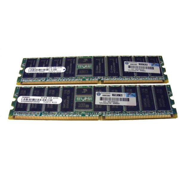 HP AB223A 2GB DDR SDRAM 2X 1GB DIMMS Memory