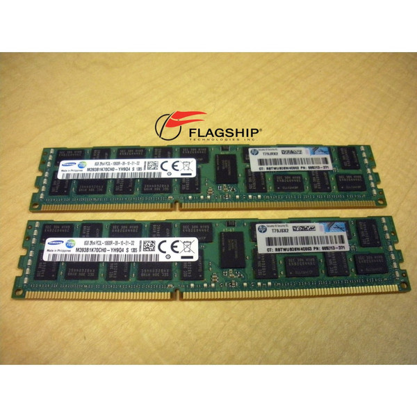 HP Integrity rx2800 i4 AT109A 16GB (2x 8GB) Memory Kit PC3L-10600