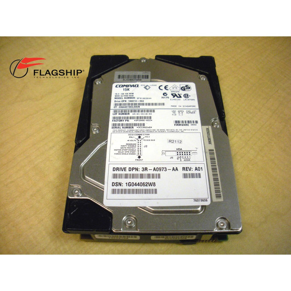 HP 188014-002 18.2 GB 15K WIDE-ULTRA 3 DRIVE