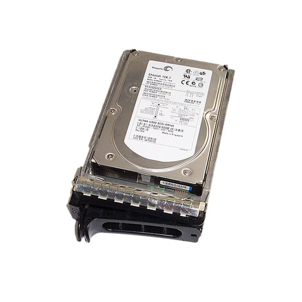 73GB 10K U320 SCSI 80Pin Hard Drive & Tray FC960 ST373207LC Dell Seagate