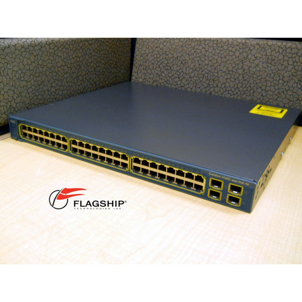 Cisco WS-C3560G-48PS-S 48-Port 10/100/1000 PoE 3650 Switch IT Hardware via Flagship Technologies, Inc, Flagship Tech, Flagship, Tech, Technology, Technologies