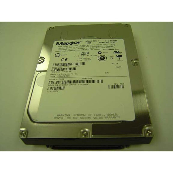 Dell YC952 Maxtor 8J147J0 146GB 10K U320 SCSI 80PIN Hard Drive via Flagship Tech