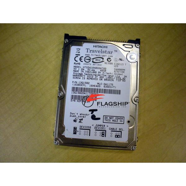 IBM 13G1582 Hitachi HTS541040G9AT00 40GB 5400 RPM 2.5in IDE Hard Drive Disk via Flagship Tech