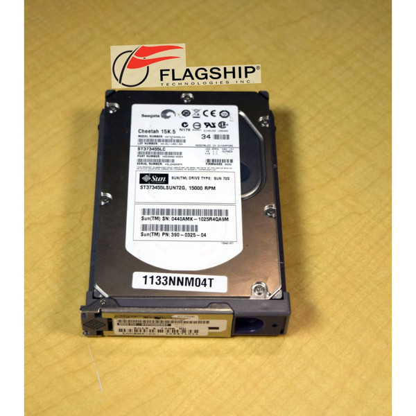 SUN 390-0325 Seagate ST373455 73GB 15K SCSI 3.5in Hard Drive