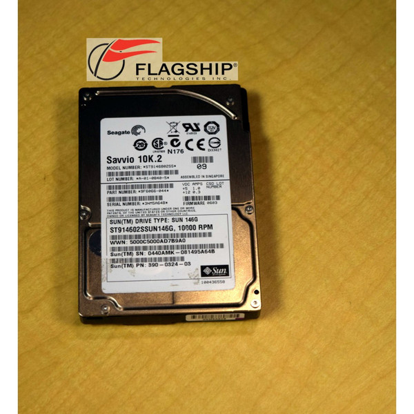 SUN 390-0324 146GB 10K SAS 2.5in Hard Drive Disk