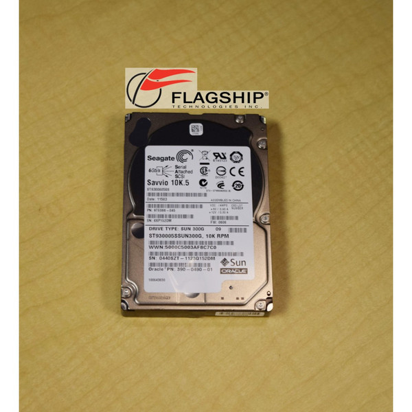 SUN 390-0490 300GB 10K SAS 2.5in Hard Drive Disk