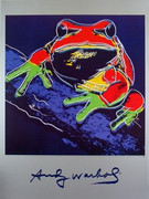 Andy Warhol Official Limited edition ENDANGERED Species Wildlife Frog Print
