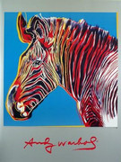 Fab Andy Warhol Official Rare ENDANGERED Species Wildlife Zebra Litho Art Print