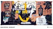 Jean Michel Basquiat Large Rare Provactive History of Black People  Exhibition Art Print!