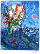 Marc Chagall La Dormeuse Aux Fleurs Signed and Numbered Ltd Wcoa