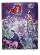 Marc Chagall Sur La Route Du Village Signed S/n W/coa