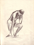 Original Crawford Drawings Dynamic Nude Pair 1960s! '