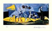 Pablo Picasso Cubist Joy Of Life Signed S/n L/e W/coa