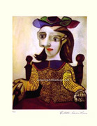Pablo Picasso Cubist Lady Earthy Tones SN LE WCoa
