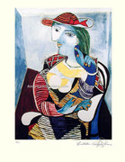 Pablo Picasso Cubist Lady Marie Signed SN Ltd Ed Wcoa