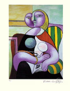 Pablo Picasso Cubist Lady Seated Hand Signed L/e W/coa