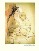 Pablo Picasso Mother With Child Hand Signed LE Wcoa