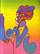 Peter Max Most Famous Love Lithograph Hand Signed With COA
