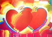 Peter Max Two Hearts Hand Signed Limited Edition Lithograph