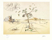 Rare Dali Telephone Paris Printer Proof Signed Le W/coa