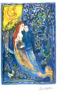 Rare Marc Chagall Wedding Signed SN Lithograph Ltd Ed