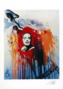Salvador Dali Rare Marilyn Monroe Signed Ltd Ed W/coa Last Ones!