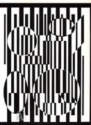 Victor Vasarely Modern Art Vintage 1970s Eames Era Nr '