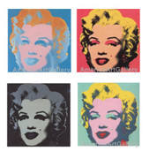Warhol Sunday B Morning Marilyn Suite Of 4 With Coa