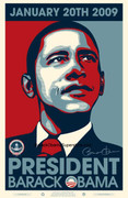 Authentic Barack Obama Fine Litho 56th Presidential Inauguration