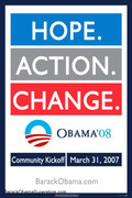 Barack Obama Action Political Campaign Poster