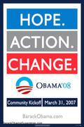 Barack Obama Action Political Campaign Poster