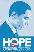 Barack Obama Beautiful Hope Presidential Poster