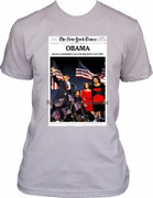 Barack Obama Collectible Historic Victory New York Times T-shirt