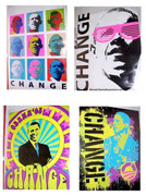Cool Pop Art Barack Obama Mini Posters Set Of 4