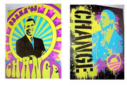 Cool Pop Art Barack Obama Mini Posters Set 2