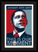 Excellent Framed Barack Obama Inaugural Poster Our Moment