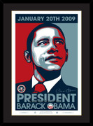 Excellent Framed Commemorative Barack Obama Presidential (sm)
