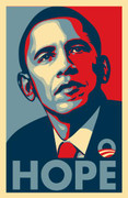 Rare Barack Obama Hope Campaign Collectible Poster