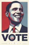 Rare Barack Obama Vote Campaign Poster