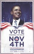 Rare Barack Obama Vote Change Campaign Poster