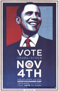 Rare Barack Obama Vote November Campaign Poster