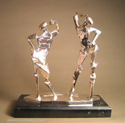Salvador Dali Signed Bronze Day & Night Sculpture Wcoa