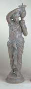 Striking Roman Girl Sculpture Statue
