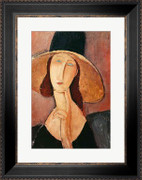 Portrait of Jeanne Hebuterne in a large hat, c.1918-19 - Amedeo Modigliani