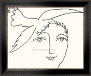 L'homme en prole a la paix (serigraph) - Pablo Picasso