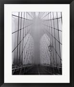 Foggy Day on Brooklyn Bridge - Henri Silberman