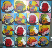 Stunning Steve Kaufman Marilyn Monroe Faces